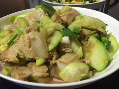 西葫蘆炒回鍋肉